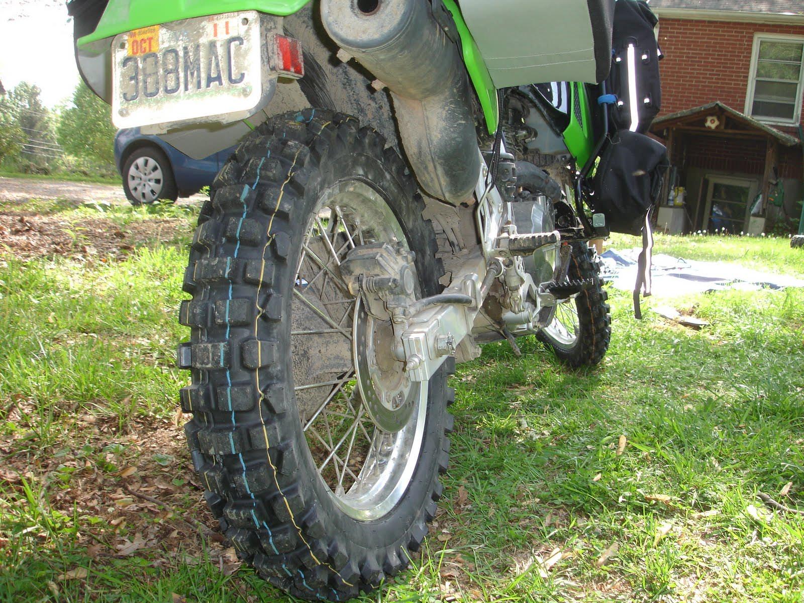 Dunlop D606 Tire on Kawasaki KLX